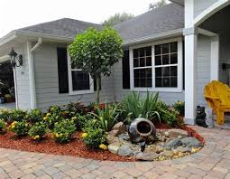 easy no lawn front yard landscaping