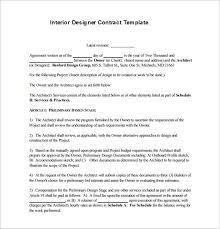 Example Interior Designer Contract Proposal Template