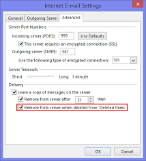 Delete Junk Email From Mail Server Too When Deleted In Outlook