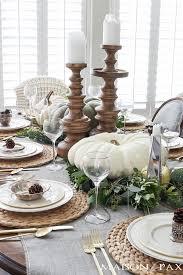 Elegant, Neutral Thanksgiving Table Decor