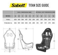 Sabelt Race Suit Size Chart Sabelt Titan Fibreglass Seat