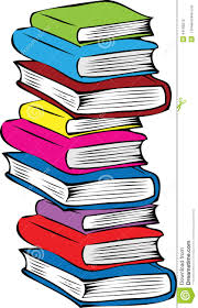 a stack of diffe colored books stock vector ilration of bookshelf