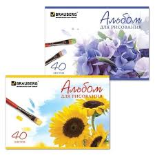 <b>Альбом для рисования BRAUBERG</b> Цветы 29.7 х 21 см (A4), 100 г ...