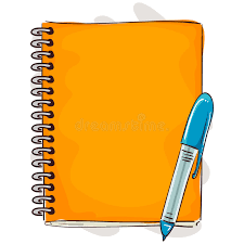 notebook and pen cartoon style stock vector ilration of notebook journal 84770509