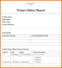 Simple Project Status Report Template Excel Jasonwang Co