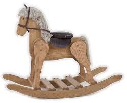 details about large wooden rocking horse usa handmade toddler toy amish furniture medium oak