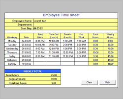 Excel Time Sheet Calculator Free 16 Timesheet Calculator Templates In Pdf Word Excel