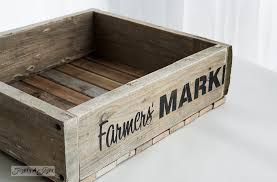 farmers market stencil on a crate how to build a pallet wood crate funkjunkinteriors