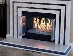 modernized fireplace