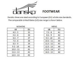 Dansko Size Chart Heritage Goods And Supply