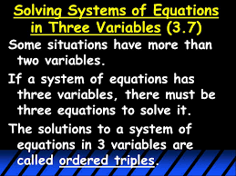 11 when solving systems
