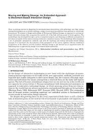 Neuro Embodied Design Pdf Moving And Making Strange An Embodied Approach To