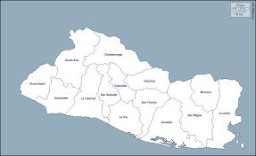 السلفادور خريطة مجانية, خريطة خاليه من الفراغ, خريطة الخطوط العريضة, خريطة  القاعدة الحرة الخطوط العريضة, الإدارات, أسماء
