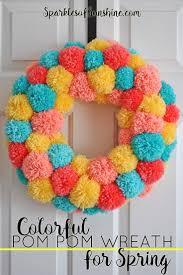 Pom Pom Decorations The 25 Best Pom Pom Wreath Ideas On Pinterest Making Pom Poms