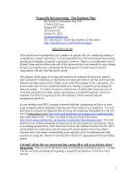 Nonprofit Business Plan Template Nonprofit Incorporating The Business Plan Template Printable