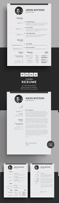 Modern Minimalist Resume Free Template Free Minimalistic Cv Resume Templates With Cover Letter Template