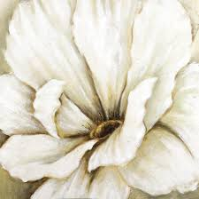 white flower close up oil painting