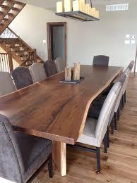 Kitchen Tables Portland Oregon Black Walnut Live Edge Table Live Edge Dining Room Table Kitchen
