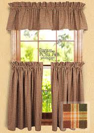 new england plaid ruffled window curtain swags