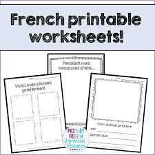 these printable worksheets are quick easy activities that your students can do to practice their french i treat each one as a longer activity than just