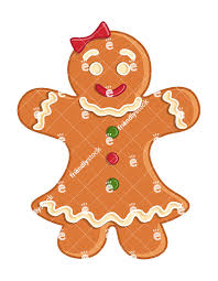 gingerbread woman.  Woman Gingerbread Woman Cookie Isolated Vector Clipart And D