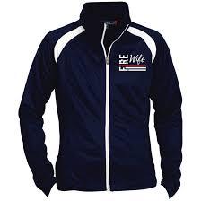 Fire Wife Flag Embroidered Sport Tek Ladies Raglan Sleeve Warmup Jacket