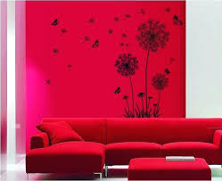 red wall decorations