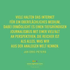 Jan Eric Peters Viele Halten Das Internet Für Ein Agitano