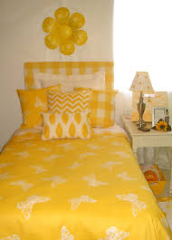 Dorm Bedding Decor Cheerful Yellow Girl Dorm Room Bedding And Decor Set Decor 2 Ur Door