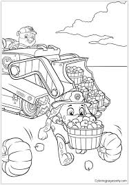 Rubble And Marshall Paw Patrol Coloring Page Free Coloring Pages
