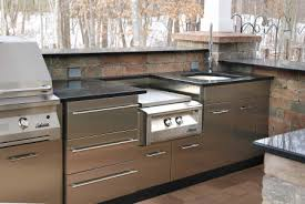 stainless steel outdoor kitchen. Stunning Outdoor Kitchen Stainless Steel Cabinets Magnificent Furniture Home Design Inspiration With Kitchens .