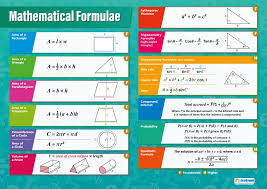 1000 Chart For Math Mathematical Formulae Math Posters Laminated Gloss Paper Measuring 33 X 23 5 Math Charts For The Classroom Education Charts By Daydream