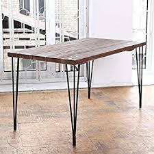 Hairpin dining table Industrial Cosywood Hairpin Legs Industrial Dining Table Matt Black Browngreen Amazoncouk Kitchen Home Amazon Uk Cosywood Hairpin Legs Industrial Dining Table Matt Black Brown