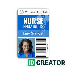 Nurse Id Cards Quick Turnaround Idcreator Com