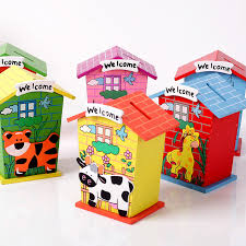 coin box for kids.  Box Wood Small House Personalized Kids Piggy Bank For Coins Crafts Coin  Money Box Change Moneybox Hidden Safein Money Boxes From Home  For Coin Box Kids AliExpress