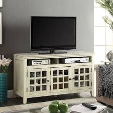linon whtu largo  white media cabinet tv stand w glass