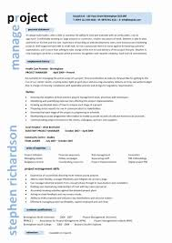 Project Management Curriculum Vitae Samples Best Of Project Manager