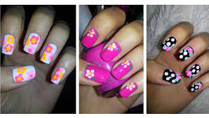 ✿ Spring Nail Art ✿ Three Easy Flower Designs! - YouTube