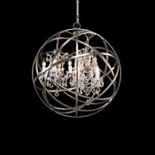 timothy oulton orb crystal chandelier small