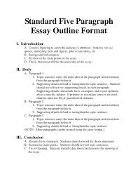 outline of essay example format for persuasive essay writing  outline