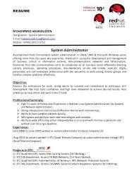 System Administrator Cv Senior Linux Administrator Resume Sample