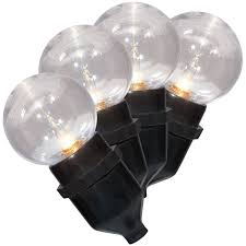 Globe Sm Light G40 Drop Down Globe Lights On Black Wire 30 Count At Home