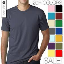 Next Level Premium Crew Neck T Shirt Mens Soft Fitted Basic