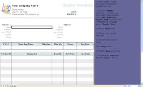 Excel Sales Invoice Template General Sales Invoice Template Uniform Invoice Software
