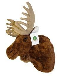 "ADORE 13"" Yukon the Moose Plush Stuffed Animal Walltoy Wall Mount"