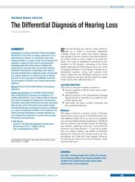 Hearing Impairment The Differential Diagnosis Of Hearing Loss 24 06 2011
