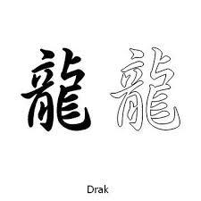 Kanji Tetování Drak