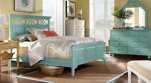 turquoise bedroom furniture. Delighful Bedroom Cindy Crawford Home Seaside Blue Green Panel 7 Pc King Bedroom   Sets Colors On Turquoise Furniture A