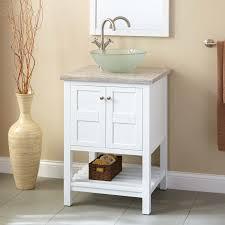 everett vessel sink vanity  white  bathroom