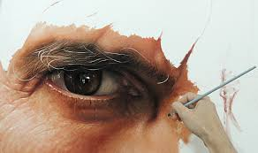 hyper realistic painting by fabianomillani